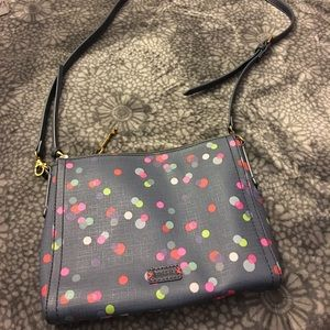Fossil Polka-dot Crossbody Purse